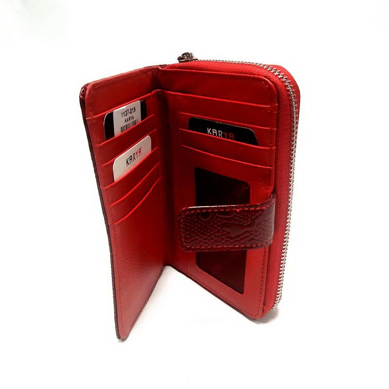 Кошелек женский KARYA (9015-3) красный